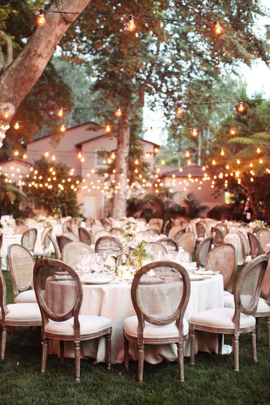 Como decorar una boda vintage con bombillas vintage
