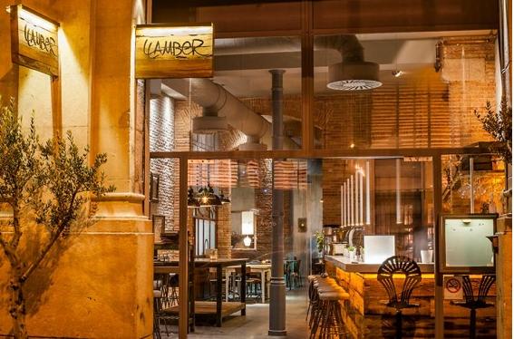 Lámparas vintage en Restaurante Llambert