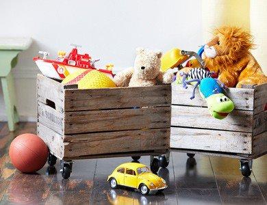 almacenaje decorar con cajas de fruta