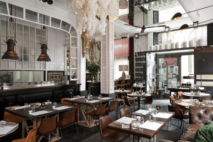 restaurantes con muebles vintage - Big Fish, Barcelona