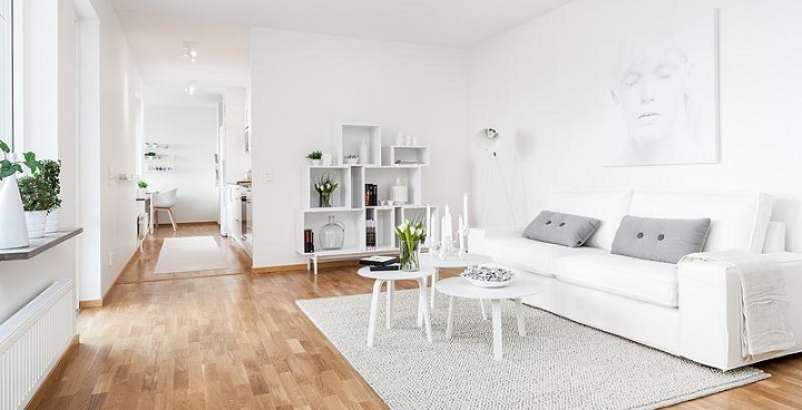DECORAR CON MUEBLES DE ESTILO NÓRDICO. Blanco