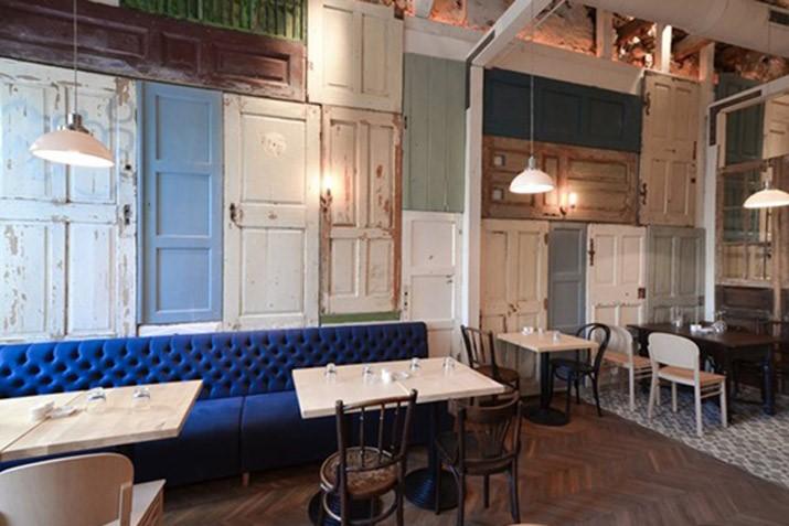 restaurantes con muebles vintage - bon