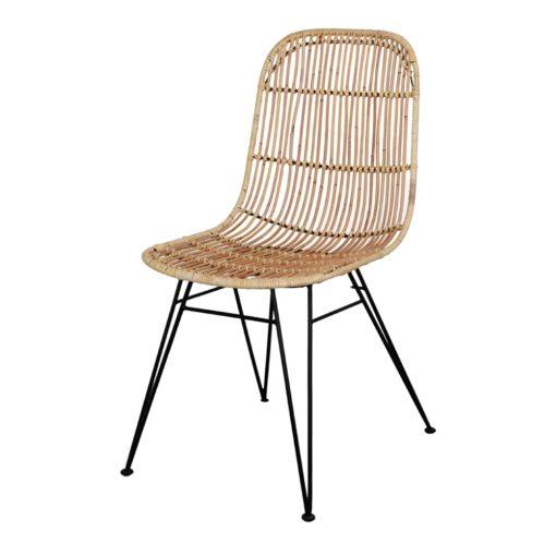 ESPRESSO NATURAL Silla estilo Nórdico con asiento de rattan. Encuéntrala en MisterWils. Más de 4000m² de exposición y almacén.