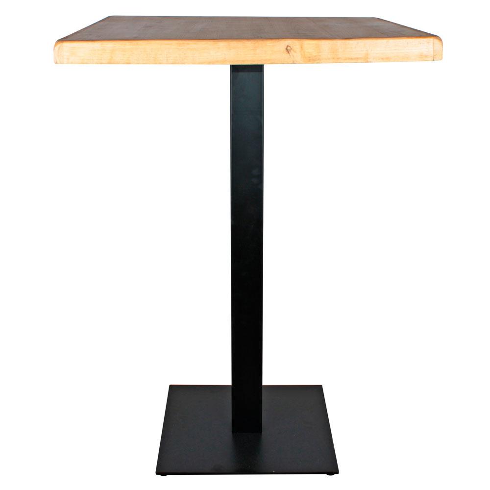 MisterWils, Mesa estilo industrial con pie de metal y tapa de madera