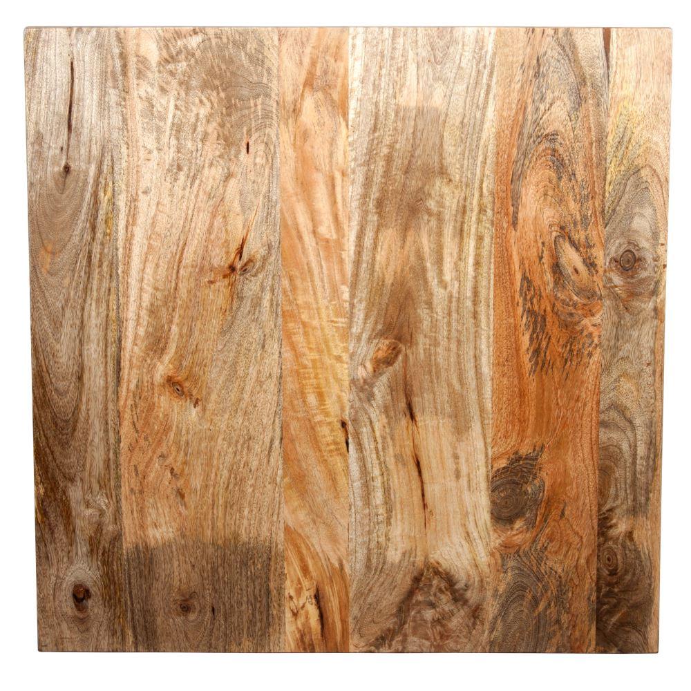 MisterWils, tapa de madera de mango natural con acabado encerado