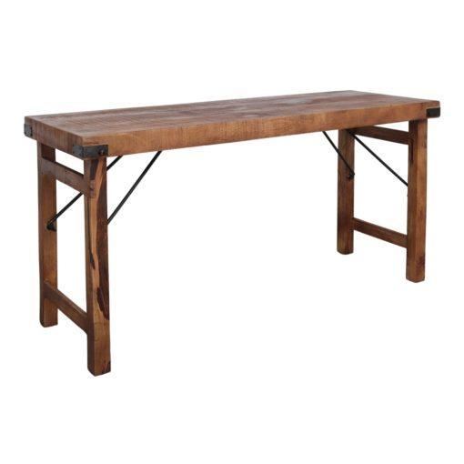 LATERAL MARRÓN Mesa estilo vintage fabricada en madera. Encuéntrala en MisterWils. Más de 4000m² de exposición y almacén.