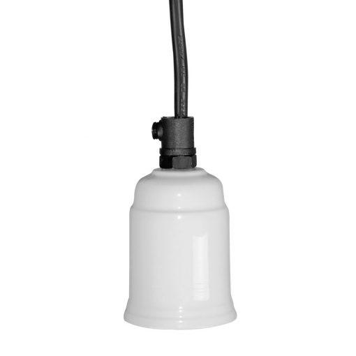 Lámpara de techo estilo retro con cubre casquillo en blanco