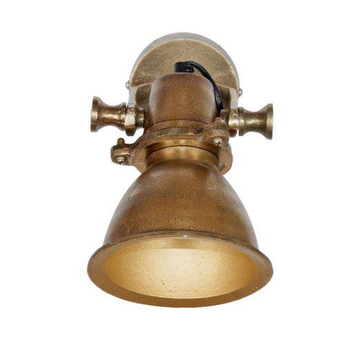 Aplique de pared estilo vintage industrial fabricado en metal con acabado bronce envejecido