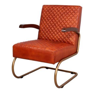 GALÁPAGOS Sillón vintage/mid-century de acero tapizado en piel. Encuéntrala en MisterWils. Más de 4000m² de exposición y almacén.