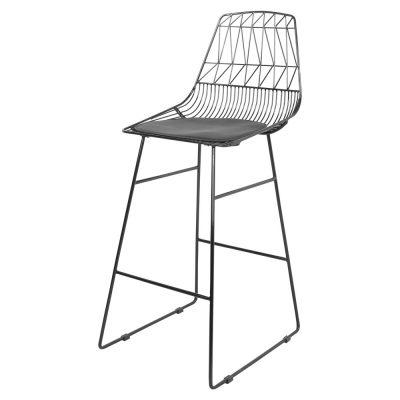 CARTAMO NEGRO Taburete estilo Nórdico répica Lucy stool. Encuéntralo en MisterWils. Más de 4000m² de exposición y almacén.