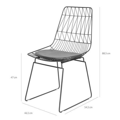 SILLA DE METAL GLADIOLO estilo nórdico réplica Lucy chair. Encuéntrala en MisterWils. Más de 4000m² de exposición y almacén. 7