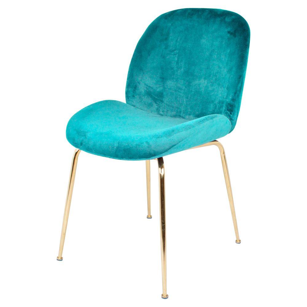 MisterWils, silla terciopelo Sando turquesa
