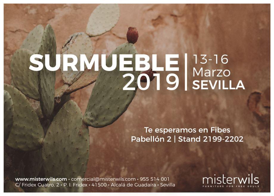 MisterWils estará presente este marzo en SURMUEBLE 2019. No podíamos faltar. El equipo de MisterWils contará en esta, la segunda edición de Surmueble...