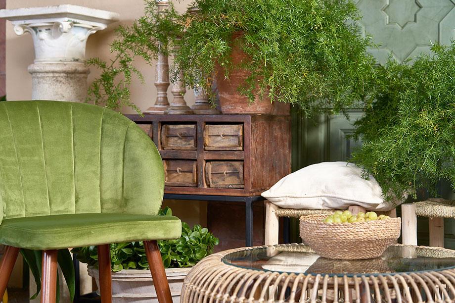 MisterWils, silla terciopelo Inside green