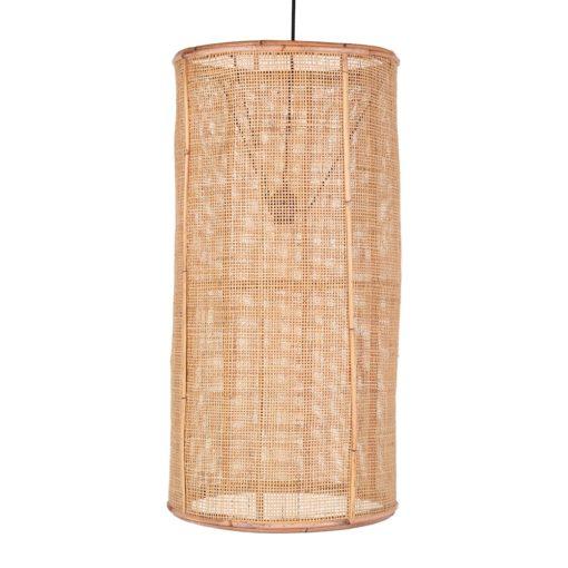 OLIVER MAXI Lámpara de techo estilo étnico de rejilla de rattan natural. Encuéntrala en MisterWils. Más de 4000m² de exposición y almacén.