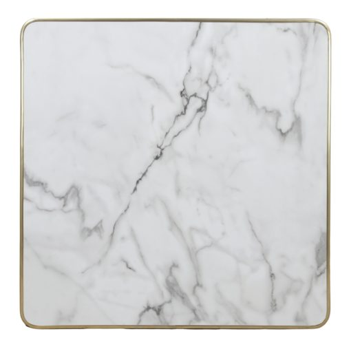 LORNA BLANCA Tapa efecto mármol calacatta encastrada en marco acabado latón. Encuéntrala en MisterWils.1