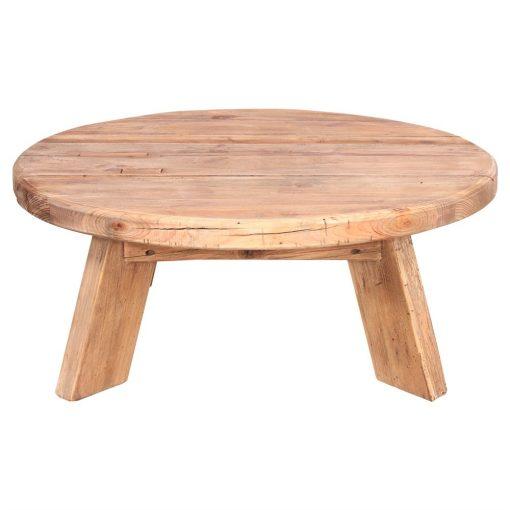 ORIGAMI Mesa baja circular estilo Rústico de madera reciclada. Encuéntrala en MisterWils. Más de 4000m² de exposición y almacén.