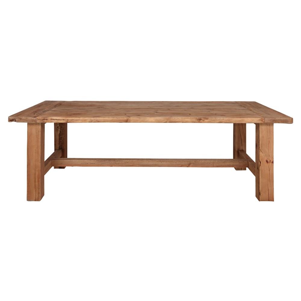 MISURI BIG Mesa estilo Rústico Vintage de madera reciclada con traviesa. Encuéntralo en MisterWils. Más de 4000m² de exposición y almacén.