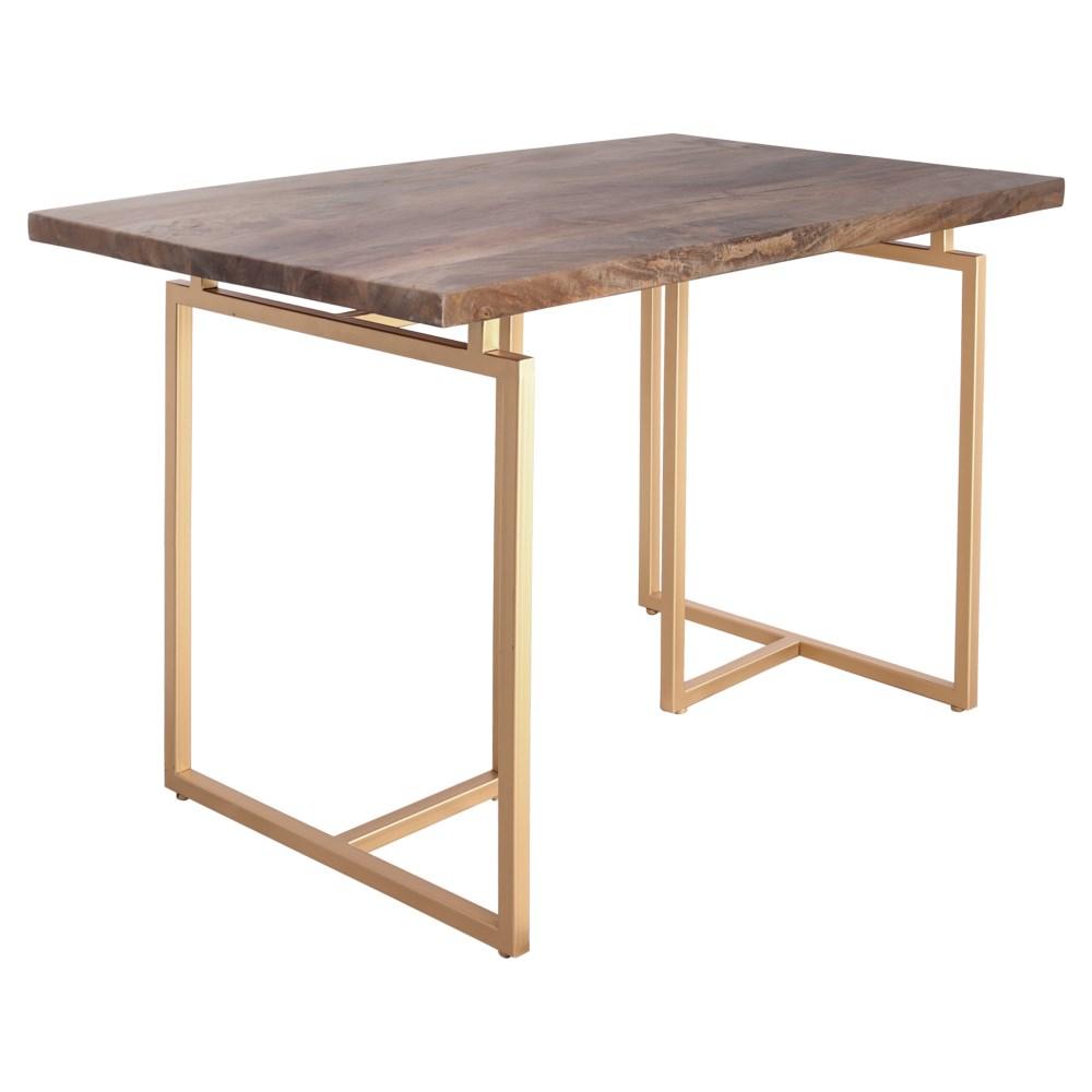 Cinco mesas de escritorio que invitan a trabajar e inspirarse. Mesa Libélula Gold