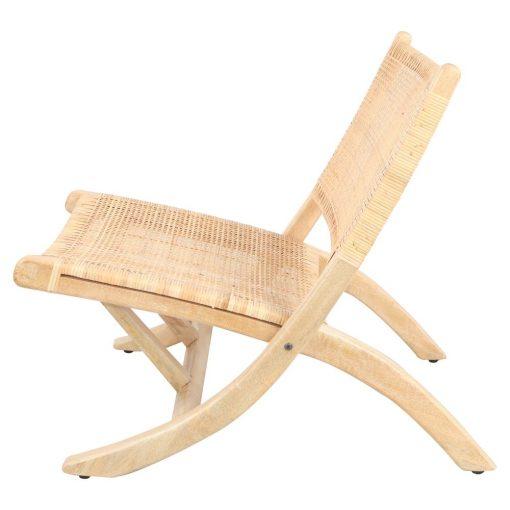 BERGEN NATURAL Sillón plegable de madera tropical y rattan natural. Encuéntralo en MisterWils. Más de 4000m² de exposición y almacén.