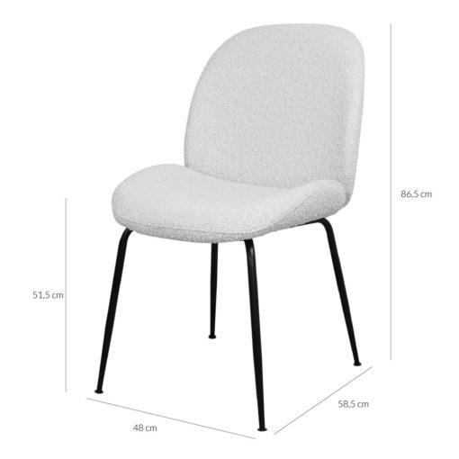 silla tapizada lana bouclé BRANDO 1