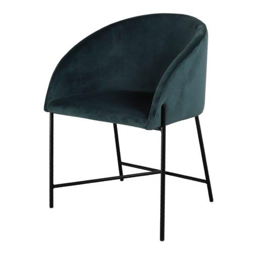PETUNIA AZUL PETROLEO Silla estilo contemporáneo de acero y terciopelo. Encuéntrala en MisterWils. Más de 4000m² de exposición y almacén.