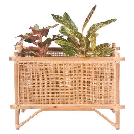 PLANTER Macetero para plantas fabricado en bambú y rattan. Encuéntralo en MisterWils. Más de 4000m² de exposición y almacén.