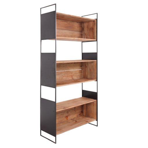 JONNY Estantería estilo Industrial de acero y madera de pino reciclada. Encuéntrala en MisterWils. Más de 4000m² de exposición y almacén.
