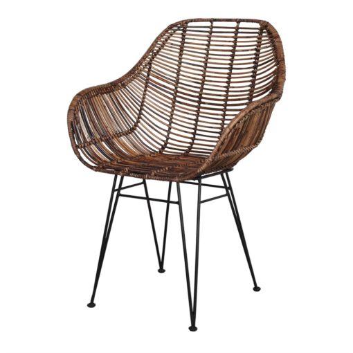 silla de rattán natural VIGGO 1