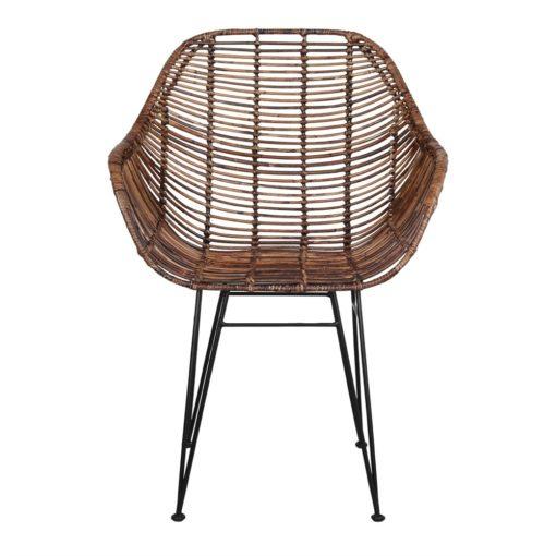 silla de rattán natural VIGGO 2