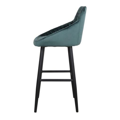 STANFORD AZUL PETROLEO Taburete alto estilo Contemporáneo de acero y terciopelo. Encuéntralo en MisterWils. Más de 4000m² de exposición...