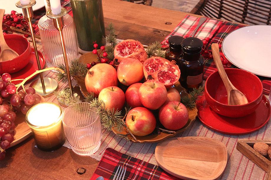 Mesas de Navidad que maridan aromas y color