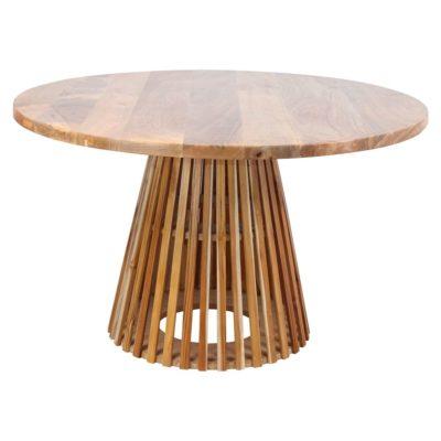 LEIRE MANGO MESA Mesa estilo nórdico de madera de pino y mango. Encuéntrala en MisterWils. Más de 4000m² de exposición y almacén.