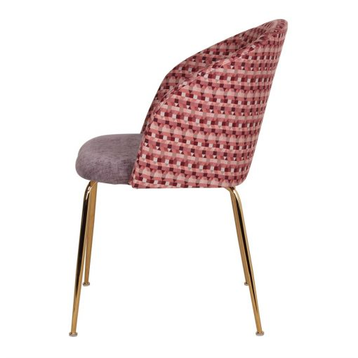 silla tapizada OMNIA vista perfil