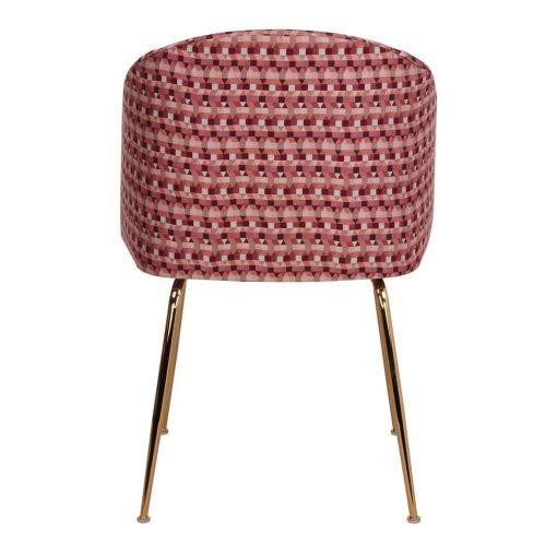 silla tapizada OMNIA vista de espalda