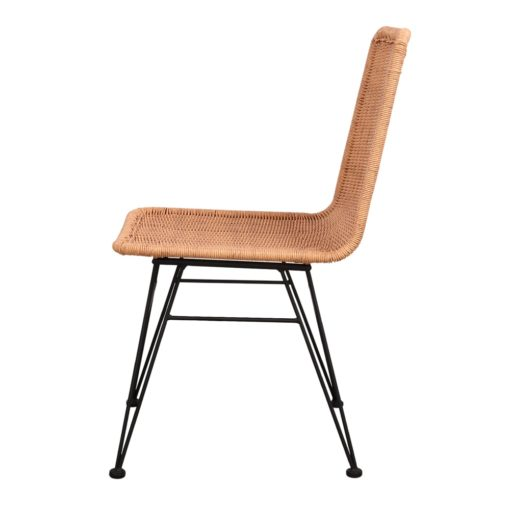 silla de exterior HOMELY fabricada en rattán sintético 3