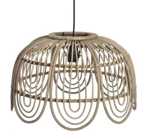 IBIS Lámpara de techo estilo nórdico con pantalla fabricada en rattan natural. Encuéntrala en MisterWils. Más de 4000m² de exposición y almacén.