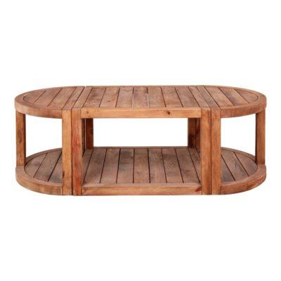 CAROLINE Mesa baja modular estilo rústico de madera de pino. Encuéntrala en MisterWils. Más de 4000m² de exposición y almacén.