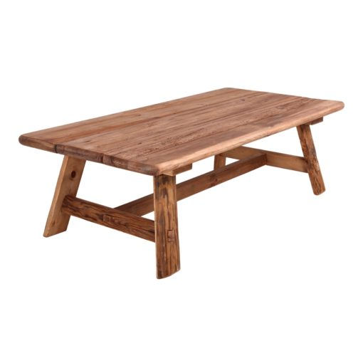 WAYNER Mesa baja estilo rústico vintage de madera de pino reciclada. Encuéntrala en MisterWils. Más de 4000m² de exposición y almacén.