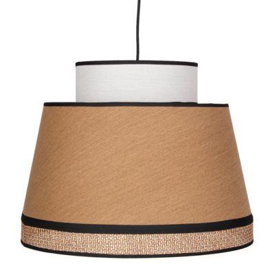 KRONBERG CURRY Lámpara de techo fabricada en rejilla de enea y textil. Encuéntrala en MisterWils. Más de 4000m² de exposición y almacén.