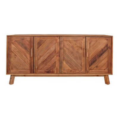 DEEPER Aparador tipo buffet de madera de pino reciclado con 4 puertas. Encuéntralo en MisterWils. Más de 4000m² de exposición y almacén.