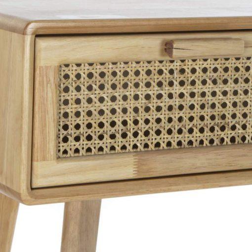 BEANIE Consola de madera con 2 cajones con frontal en rejilla de rattan. Encuéntrala en MisterWils. Más de 4000m² de exposición y almacén.