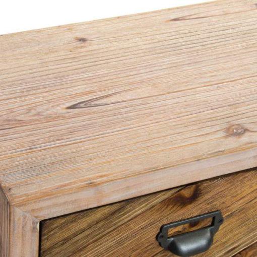SNAPY Consola-aparador estilo industrial de acero y madera natural. Encuéntralo en MisterWils. Más de 4000m² de exposición y almacén.