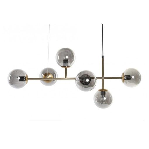 ASHTON ORO Lámpara de techo estilo retro de metal con tulipas de cristal. Encuéntrala en MisterWils. Más de 4000m² de exposición y almacén.