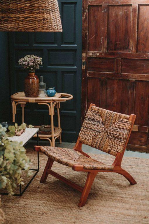 PATAGONIA Mesa auxiliar estilo Exótico de bambú y rattan trenzado. Encuéntrala en MisterWils. Más de 4000m² de exposición y almacén.