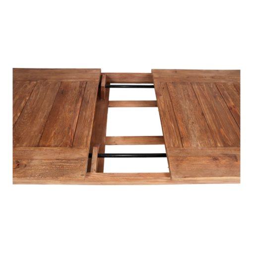 ORTEGA Mesa de comedor extensible estilo rústico vintage fabricada en madera de pino reciclado. Encuéntrala en MisterWils. Más de 4000m² de exposición y almacén.