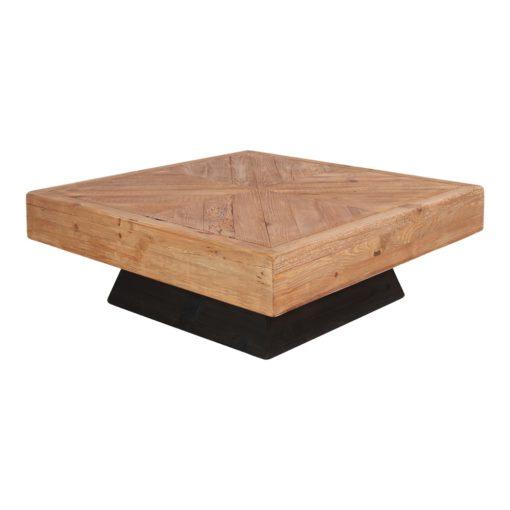 MARIUS Mesa baja cuadrada fabricada en madera de pino reciclado. Encuéntrala en MisterWils. Más de 4000m² de exposición y almacén.