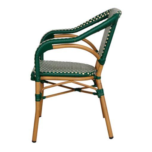 silla de exterior MINARET vista de perfil
