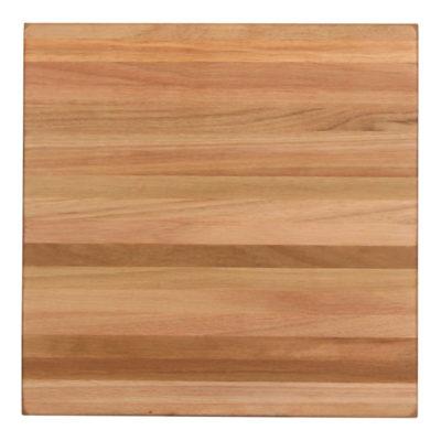 Tapa de madera de eucalipto natural con acabado en barniz. Groso aproximado de 5 cm. Posibilidad de fabricación a medida.