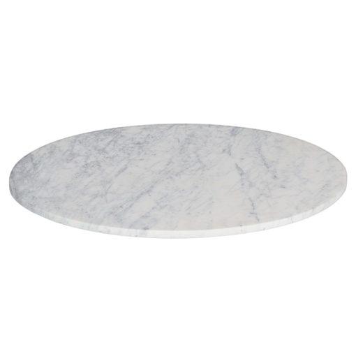 MARVELOUS Tapa circular de mármol blanco con vetas grisáceas. Encuéntrala en MisterWils. Más de 4000m² de exposición y almacén.